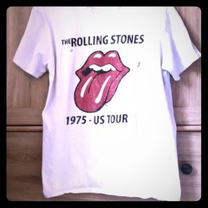 Topshop Distressed Rolling Stones Tour T-shirt